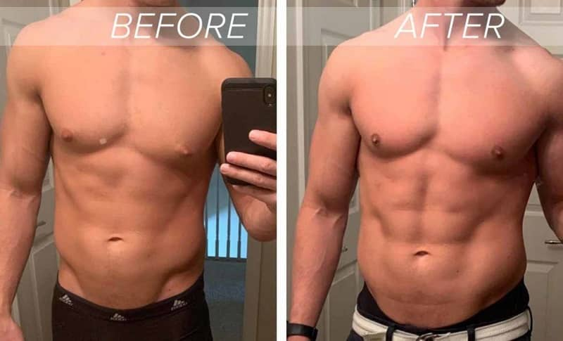 Before and After Bodybuilding