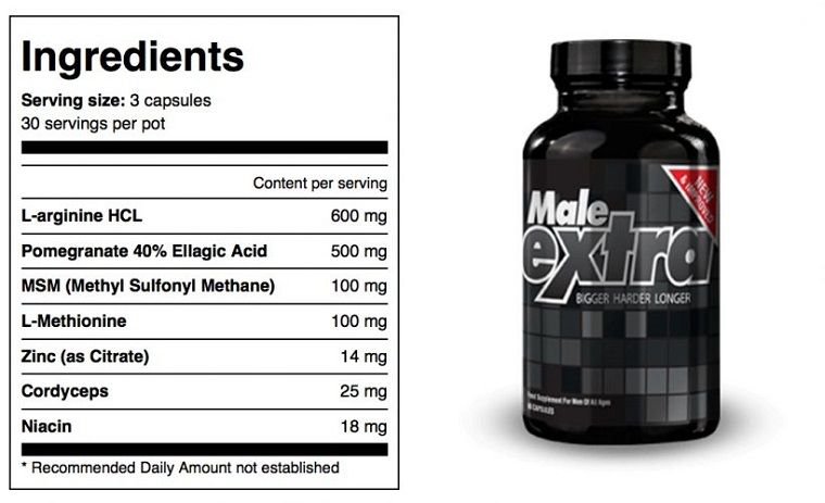 male-extra-ingredients-label